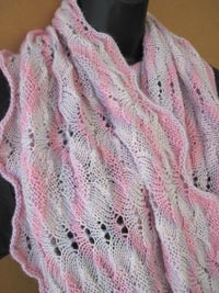Sunset Infinity Wrap generously sized twisted loop scarf