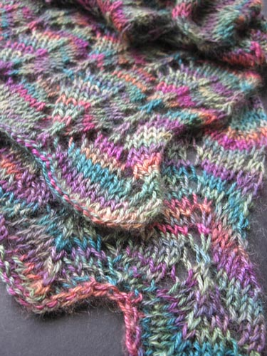 close-up of Feather Soft Scarf