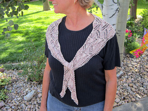 Swags of Lace Crescent Scarf