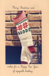 Sample cover page of Norwegian Christmas Stocking knitting pattern