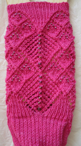 Two Ways About It Beaded Socks - back of sock leg and heel