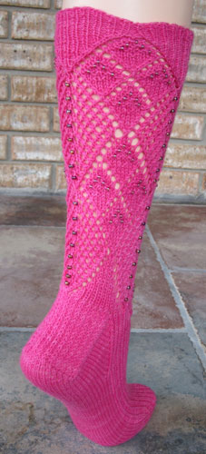 Two Ways About It Beaded Socks - back view