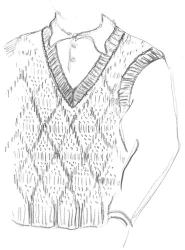 Handsome Dickey fashion sketch