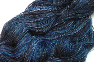 Moody Blues handspun cotton yarn plied with silk