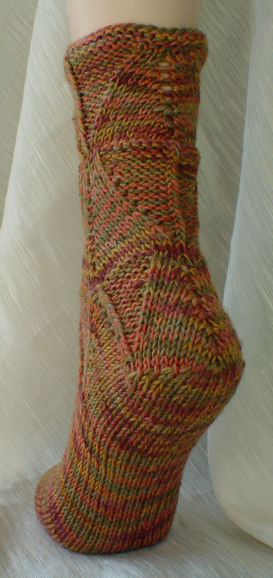 Shapely Sandal Socks - back view and heel detail