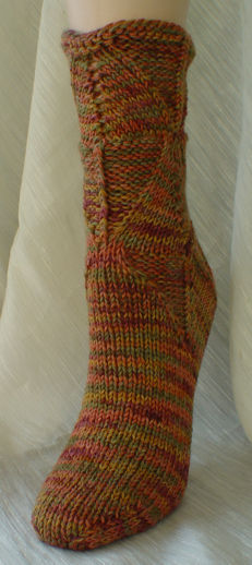 Shapely Sandal Socks - front view