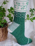 Beaded Shamrock Socks