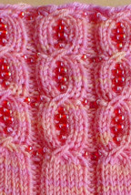 detail of Beaded Faux Cable