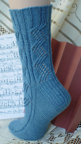 Concertina Lace Socks - back view