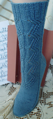 Concertina Lace Socks - front view