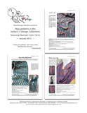 January 2013 HeartStrings flyer for new patterns featuring Mountain Colors Yarn