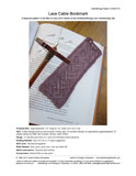 Sample cover page of HeartStrings Lace Cable Bookmark pattern