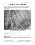 Sample cover page of HeartStrings Crest of the Wave Lace Scarf pattern