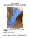 Sample cover page of HeartStrings Country Girl Socks pattern