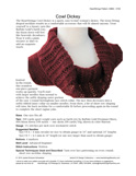 Sample cover page of HeartStrings Cowl Dickey pattern
