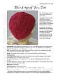 Sample cover page of HeartStrings Thinking of You Too lace hearts knitting pattern in the heart disease awareness red edition