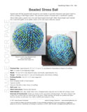 Sample cover page of HeartStrings Beaded Stress Ball pattern