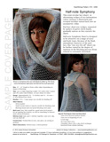 Sample cover page of HeartStrings Half-note Symphony Shawl pattern