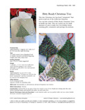Sample cover page of HeartStrings Bitty Beady Christmas Tree pattern
