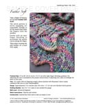 Sample cover page of HeartStrings Feather Soft Scarf pattern