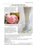 Sample cover page of HeartStrings Pulled Salt Water Taffy Socks pattern