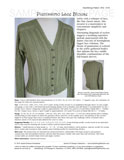 Sample cover page of HeartStrings Pianissimo Lace Blouse pattern