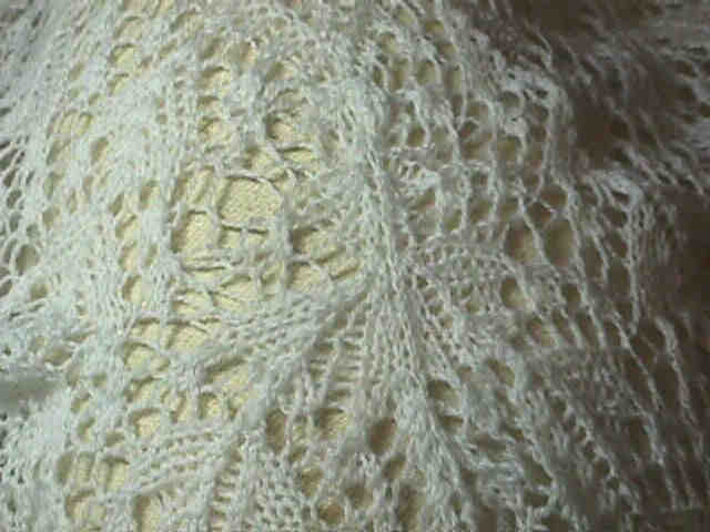 Shepherd Lace Shawl repair - finishing up