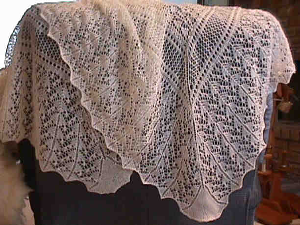 Shepherd Lace Shawl in 2-ply yarn