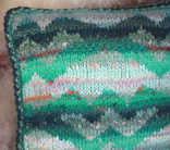 Tapestry Knitted Pillow