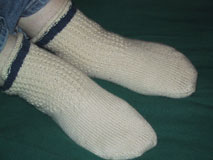 Sock Therapy with Fixation cuff variation