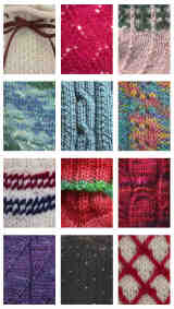 Detail stitch photos on back cover of The Sock Calendar