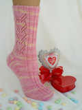 Sweet Valentine, the February pattern in The Sock Journal