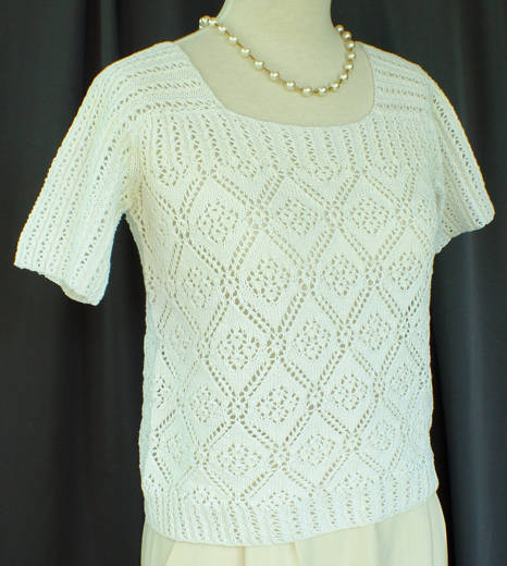 Knitting Pattern Sweater Lace : Lace Sweater :: HeartStrings Rose Trellis Lace Sweater pattern