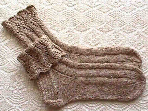 Errant Ankles Lace Socks With Cuff Variation