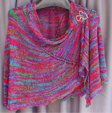 Spiral Nebula Shawl Easy Knit Spiral Nebula Shawl