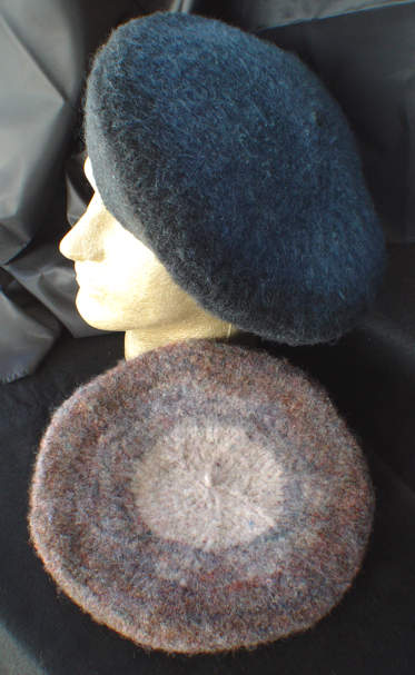 Felted Beret Pattern For Knitting And Felting Berets
