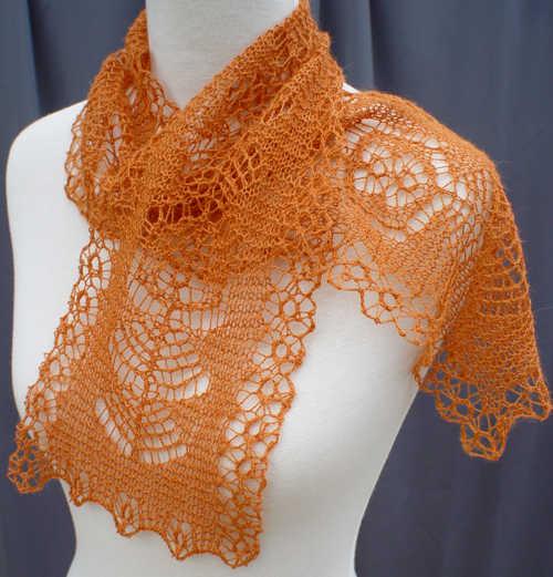 Shetland Lace Elemental Changes Shetland Lace Stole Pattern