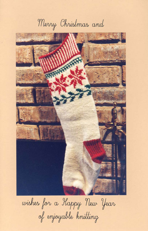 Norwegian Christmas Stocking Knitting Pattern